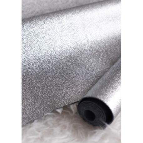 Серебро, кожа искусственная 33х69(±1см) плотность 480 г/кв.м.