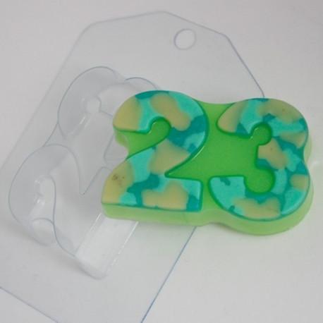 23 февраля/Плоское, пластиковая форма для мыла 100г 85х55х25мм XD