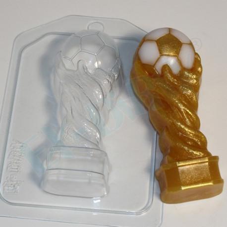 Кубок футбольный, пластиковая форма для мыла 80г 109х45х28мм XD