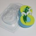 8 Марта/Подснежники по диагонали, пластиковая форма для мыла XD