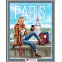Утро в Париже, набор для изготовления картины стразами 30х40см 50цв. полная выкладка АЖ