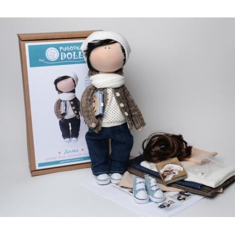 Дима, набор для шитья куклы 35см. Pugovka Doll