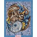 Волшебный амулет, набор для изготовления картины стразами 30х40см 43цв. полная выкладка АЖ