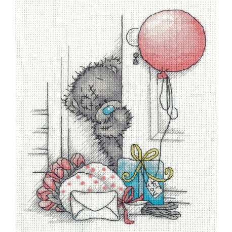 Tatty Teddy с подарками, набор для вышивания крестиком, 17х20см, 11цветов Кларт