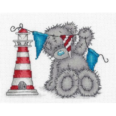 Tatty Teddy с маяком, набор для вышивания крестиком, 17,5х14см, 10цветов Кларт