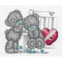 Парочка мишек Me to You, набор для вышивания крестиком, 19х16см, 10цветов Кларт