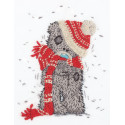 Зимний Tatty Teddy, набор для вышивания гладью 13,5х17см 7цветов Panna