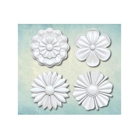 Набор цветков 3 33х33мм, молд силиконовый универсальный АП