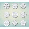 Набор цветков 10 18х18мм, молд силиконовый универсальный АП