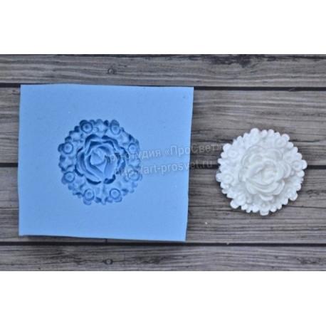Роза в цветах 22х22мм, молд силиконовый универсальный АП