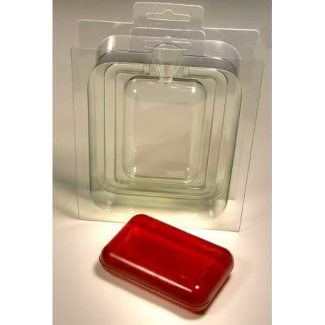 3D Прямоугольник, сторона Б (задник) пластиковая форма для мыла для мыла МФ