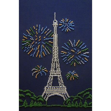 Эйфелева башня, набор для вышивки бисером 30х20см 4цв. МП-студия