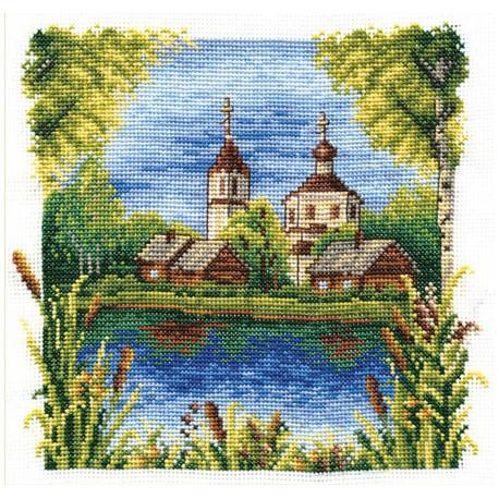 Июль, набор для вышивания крестиком 21х19см 27цветов Panna