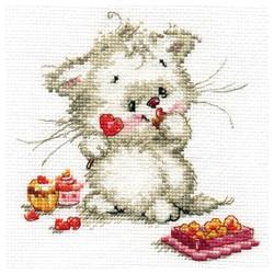 Сладкая конфетка, набор для вышивания крестиком, 13х13см, 16цветов Алиса