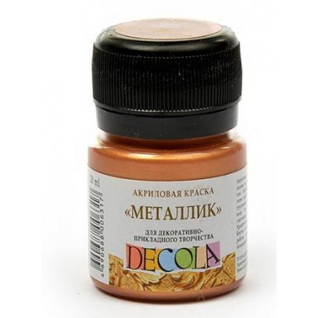 Медь краска акриловая металлик 20мл Decola +t!