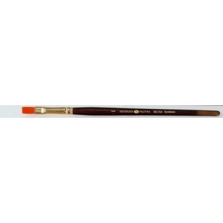 Плоская кисть синтетика №1 (6мм) длина 18см Decola
