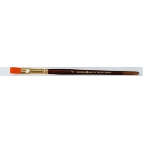 Плоская кисть синтетика №5 (8мм) длина 18,5см Decola
