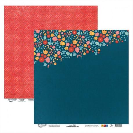 Цветочный чай, бумага для скрапбукинга 30.5x30.5см двусторонняя 190гм2, Mr.Painter