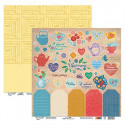Цветочный чай лист для вырезания, бумага для скрапбукинга 30.5x30.5 см двусторонняя 190 гм2, Mr. Pai
