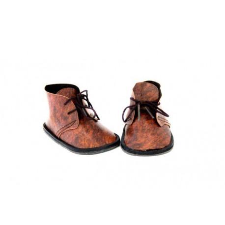 Ботинки коричневые, длина стопы 5см. Кукольная обувь