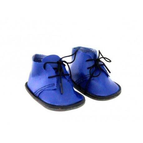 Ботинки синие, длина стопы 5см. Кукольная обувь