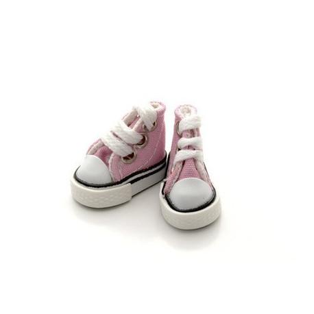 Кеды розовые, длина стопы 3,8см высота 3см. Кукольная обувь