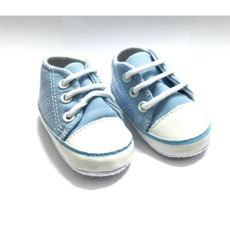 Кеды голубые, длина стопы 11см. Кукольная обувь