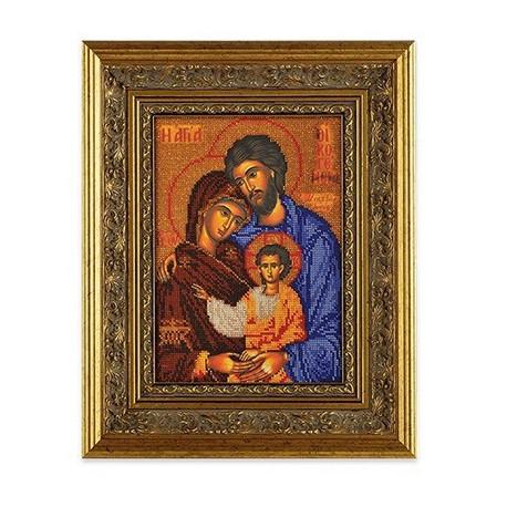 Святое Семейство, набор для вышивания бисером 19х26см Радуга Бисера
