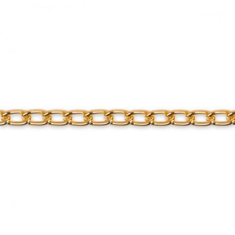 Под золото, цепочка декоративная 6.5х3.8мм 1м алюминий Micron