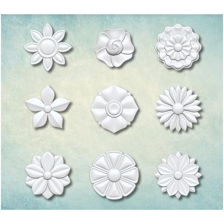 Набор цветков 8 18х18мм, молд силиконовый универсальный АП
