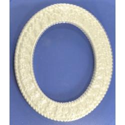 Овальная рамка, пластиковая форма 18х15см