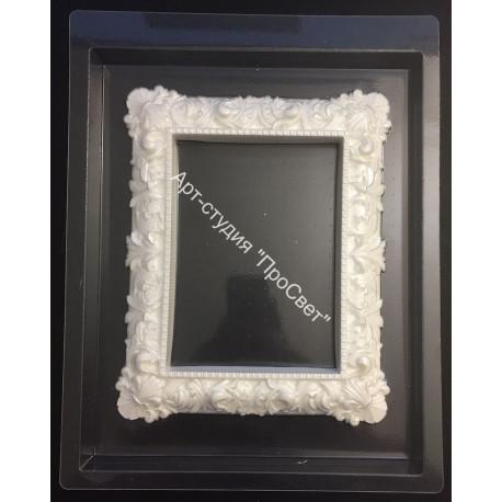 Прямоугольная рамка, пластиковая форма 17х21см