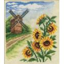 Мельница, набор для вышивания крестиком, 16х19см, 25цветов Panna