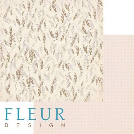 Перья, коллекция Зарисовки весны, бумага для скрапбукинга 30x30см, 190г/м Fleur Design