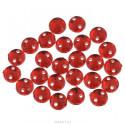 Красный круглые, стразы акриловые пришивные, 8мм, 20шт. Colibry