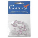 Светло-розовый каплевидные, стразы акриловые пришивные, 6х10мм, 18шт. Colibry
