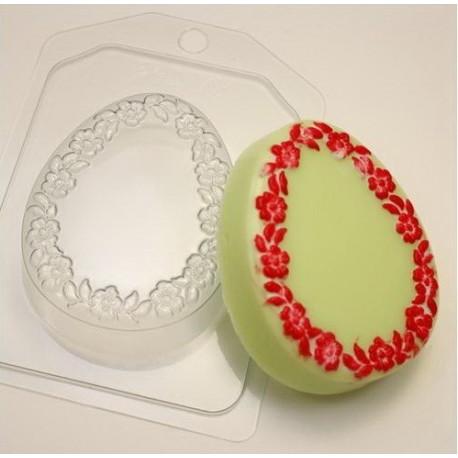 Яйцо плоское/Цветочная рамка, пластиковая форма для мыла XD