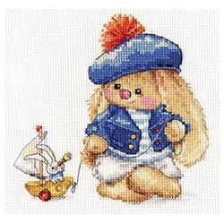 Зайка Ми. Моряк, набор для вышивания крестиком, 14х14см, 23цвета Алиса