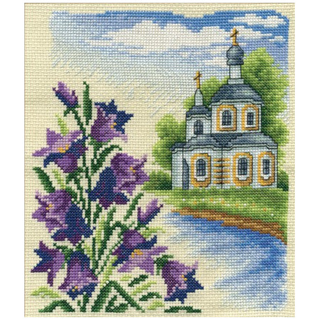 Колокольчики, набор для вышивания крестиком, 16х19см, 24цвета Panna