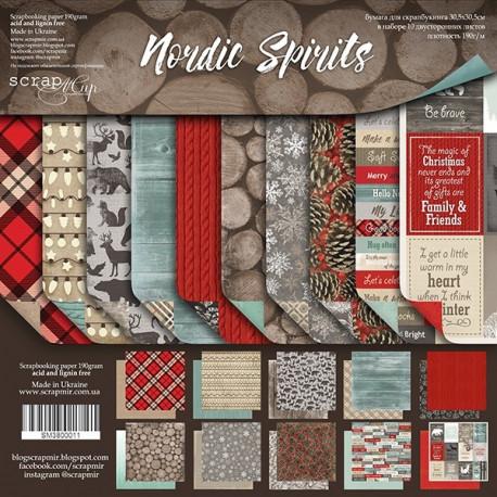 Nordic Spirits, набор двусторонней бумаги 30х30см, 190гр/м, 10листов Scrapmir