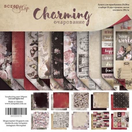 Charming (Очарование), набор двусторонней бумаги 20х20см, 190гр/м, 10листов Scrapmir