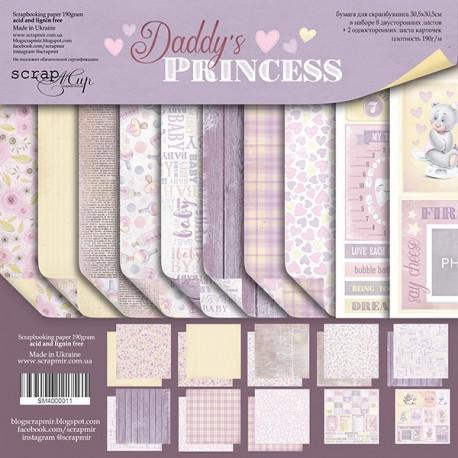 Daddy's Princess, набор двусторонней бумаги 30х30см, 190гр/м, 10листов Scrapmir