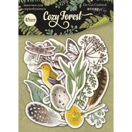 Cozy Forest, набор высечек для скрапбукинга 45шт. Scrapmir