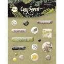 Cozy Forest, набор эпоксидных наклеек 16шт. Scrapmir