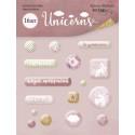 Unicorns, набор эпоксидных наклеек 16шт. Scrapmir