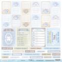 Карточки (RU) из коллекции Mommy's Hero, лист односторонней бумаги 30х30см, 190гр/м Scrapmir