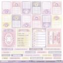 Карточки (RU) из коллекции Daddy's Princess, лист односторонней бумаги 30х30см, 190гр/м Scrapmir