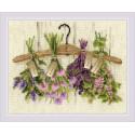 Пряные травы, набор для вышивания крестиком 30х24см нитки шерсть Safil 21цвет Риолис