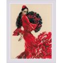 Танцовщица, набор для вышивания крестиком 30х40см мулине хлопок+шерсть 20цветов Риолис