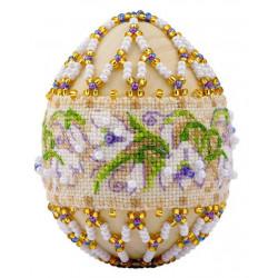 """Яйцо """"Подснежники"""", набор для бисероплетения. Риолис"""